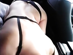 My blonde milf doxy disrobes and gives me head in my car
