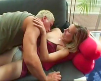 Euro slender slut getting attacked by golden-haired bastard