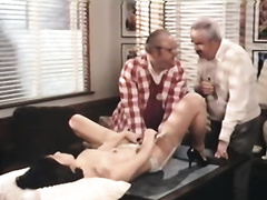 Busty playgirl got screwed hard in the office on top of the table