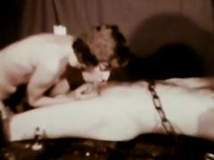 Lucky fellow is used for BDSM games of lewd vintage cuties