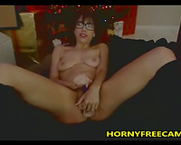 Squirty College Girl Fucks Pussy And Ass With Dildo