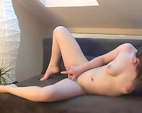 Hot web camera kitty fingering her pussy in solo masturbation