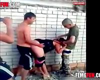 Russian Soldiers Rape Ukrainian Slut