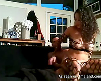 Kinky dark brown receives fucked in her cunt and booty