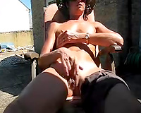 I love sunbathing and playing with my lovely vagina