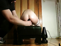 Training the asshole of my German white women for three-some