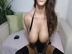 I ripped my panties cuz this breasty web camera model was so hawt