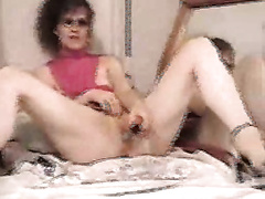 Petite and slim milfie GF playing with a sex-toy
