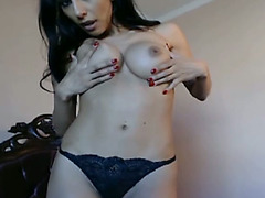 Solo Hot Latina Toying her Pussy