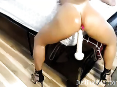 Spunky mother I'd like to fuck with a wickedly shaped bum is riding her beloved sex-toy