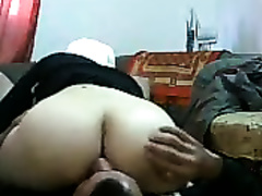 Chubby Arab wife in hijab blows me in 69 pose in advance of fucking missionary style