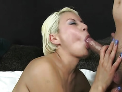 Mexican bitch Katherine takes 2 dongs simultaneously