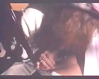Retro homemade clip of my daddy getting some head in the car