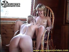Nice lesbo workout with 2 curvy Russian vixens