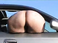 The weird way of ass flashing and mooning outside