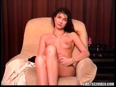 Three males group-sex this hawt brunette hair European girl