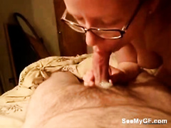 Tiny dick of a white hubby getting sucked by nerdy black cock sluts
