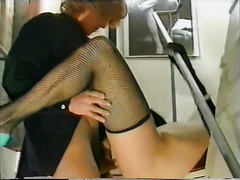 Sexy milf got her vagina team-fucked hard from behind