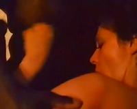 Horny skanks acquire screwed hard in interracial retro group sex scene