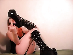 Erotic solo scene with me showing my legs and flashing my butt