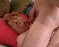 Time worn German granny hooker takes biggest facial from me