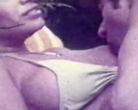 Exquisite vintage dark brown blows rod of her boyfriend