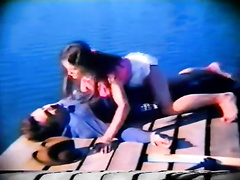 Retro porn compilation with breasty babe and oral-sex scene