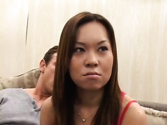 Lustful Asian whore tries her hand in hawt trio