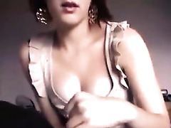Short haired sexually excited and quite buxom GF of mine sucks my rod