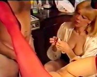 Two delicious harlots receive their holes stretched by hard dick