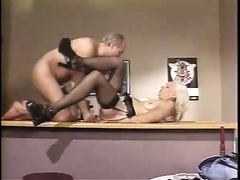 Blonde granny acquires furiously screwed missionary style by her geezer