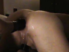 Lubricating and fisting my wife's arse aperture in hardcore homemade movie scene