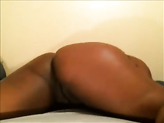 Delightful large thick swarthy ass of a lustful bimbo on livecam