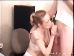 My slim blond wench got facial on the livecam after oral stimulation