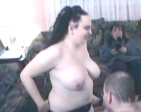 Brunette whore and golden-haired milf wench share 10-Pounder of a bulky dude