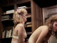 Hot like fire golden-haired head lesbos have astonishing flying 69 sex on table