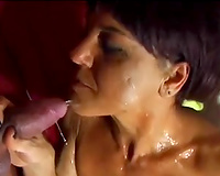 My spunk addicted black cock sluts knows how to give a sloppy oral-stimulation