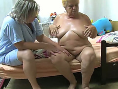 This old kinky slutwife gets to receive a precious erotic massage