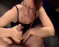 My 9 inch bushy cock receives polished by my girlfriend's mom