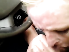 Blond haired hooker provided my ally with a great BJ in the car