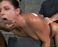 Fit and hawt milf India Summer facefucked and fucked from behind