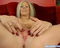 Orgasm lust blondie with large boobs just likes masturbating on camera