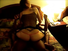 White bootylicious doxy rides my big thick ramrod in my room on daybed