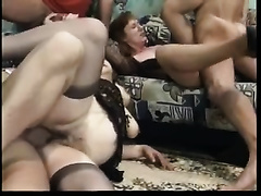 Old bodacious honeys in hawt nylons love group sex