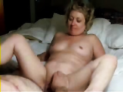 Watching concupiscent granny masturbating and then poking her snatch in a missionary pose