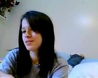 My eighteen yo girlfriend shows her yummy boobies on a web camera