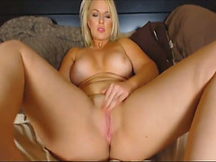 Blond haired mother I'd like to fuck with large scones went solo coz this babe thirsted for agonorgasmos