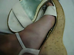 My wifey craves me to cum on her hot white sandals