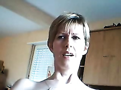 Short haired auburn skinny mother I'd like to fuck flashed scoops and fingered herself on web camera