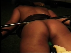 Wears gloves previous to permeating her pussy with big marital-device